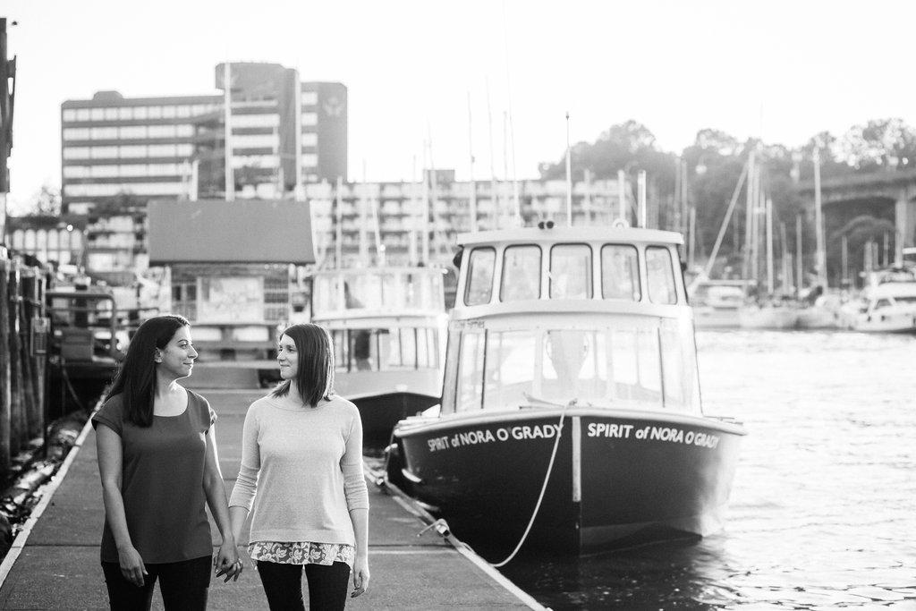Granville Island Engagement Lesbian Wedding-13