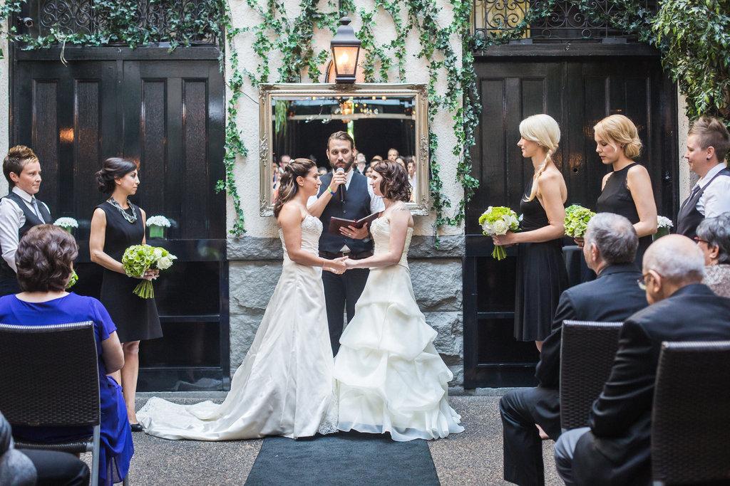 Brix Restaurant Lesbian Wedding-30