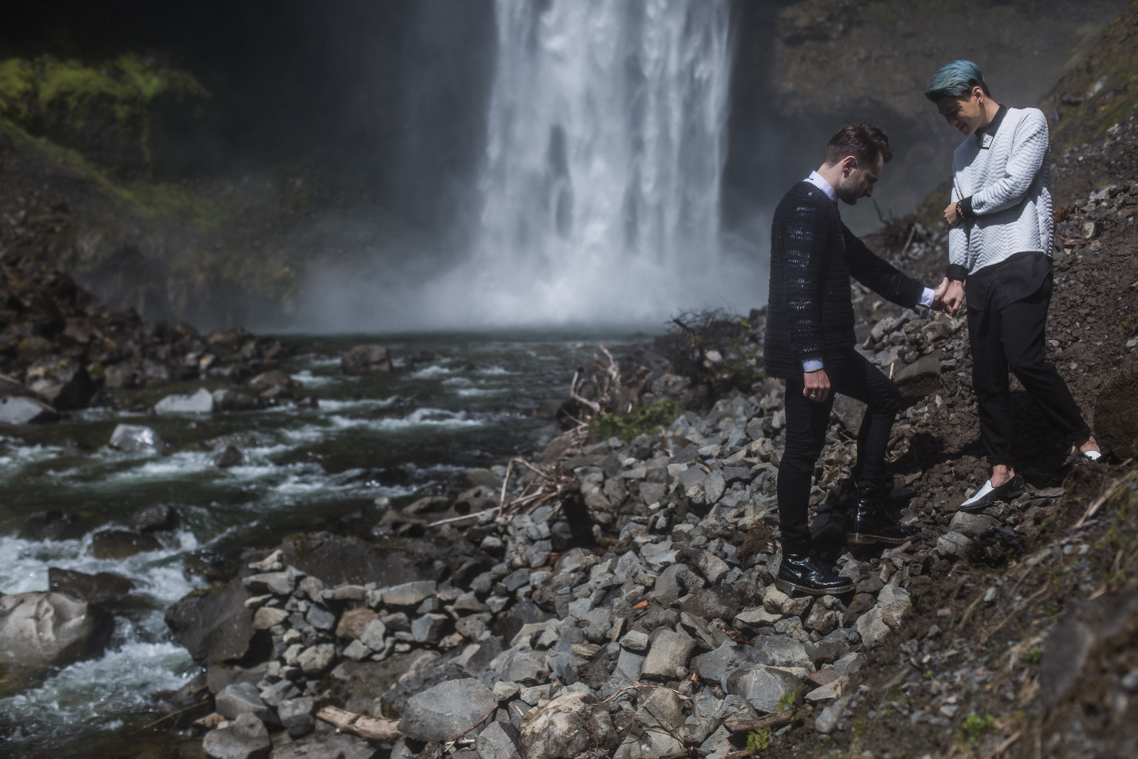 Brandywine Falls Engagement Gay wedding -01