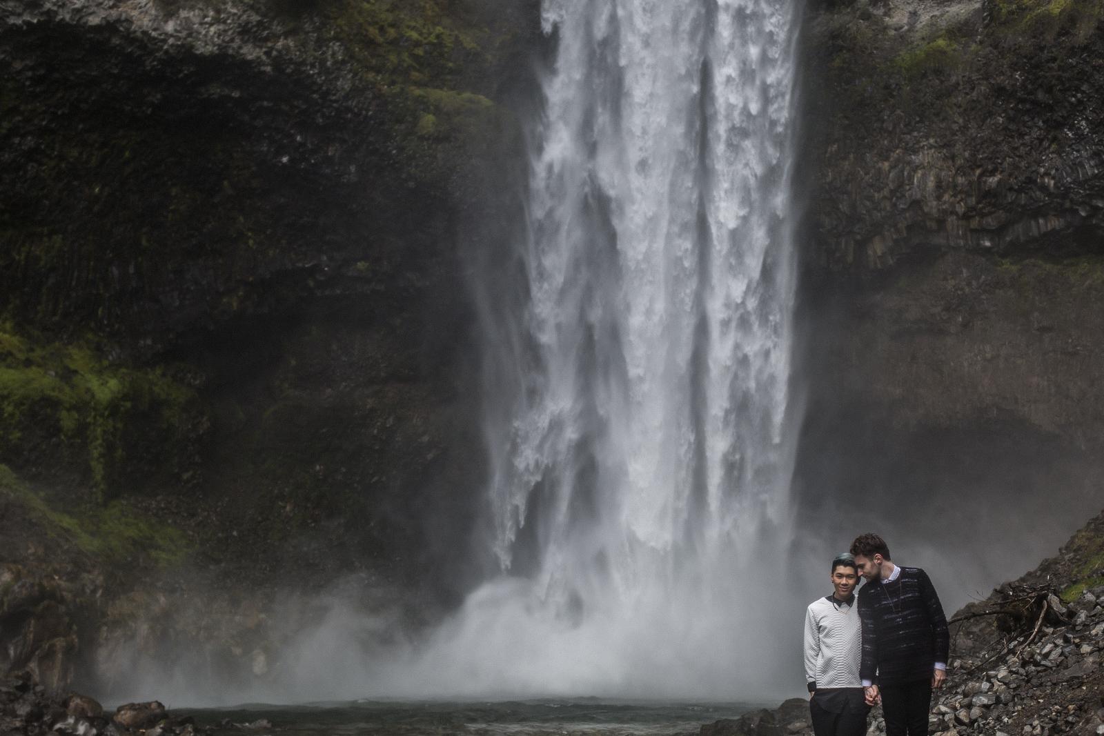 Brandywine Falls Engagement Gay wedding -04