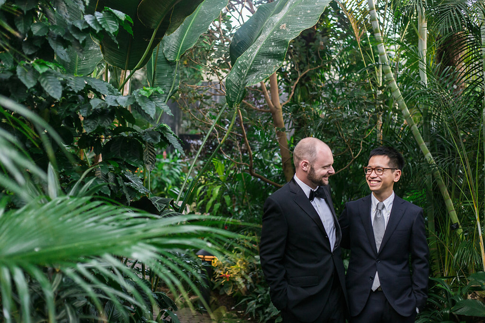 Gay Wedding at Bloedel Conservatory-32