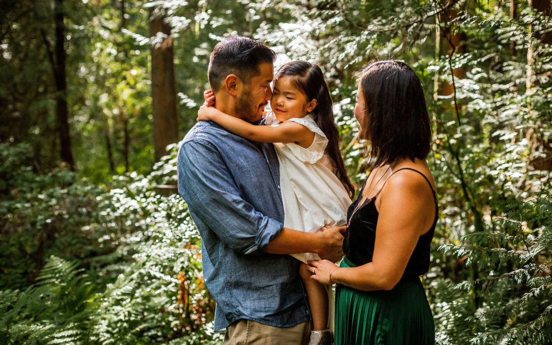 Leung Family Portrait at Pacific Spirit Regional Park